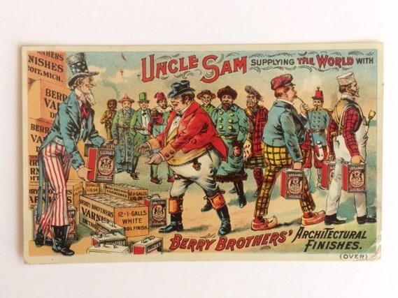 Uncle Sam Berry Brothers Trade Card front view