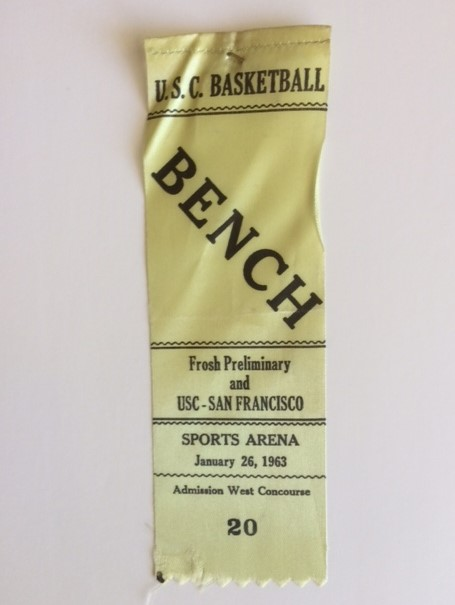 usc ucf basketball ribbon 1963