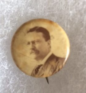 Teddy Roosevelt real photo campaign pinback