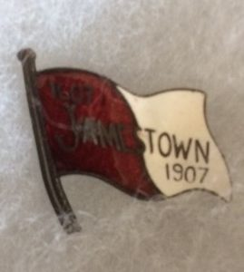 1907 Jamestown Enameled flag large