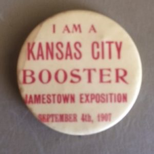 1907 Jamestown Exposition Kansas City Booster Pinback Large