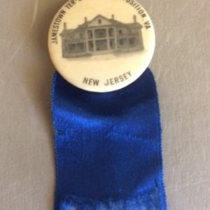 1907 Jamestown Exposition New Jersey Pinback