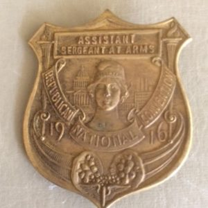 1916 Republican National Convention Badge