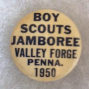 1950 Boy Scouts Jamboree Valley Forge Pinback