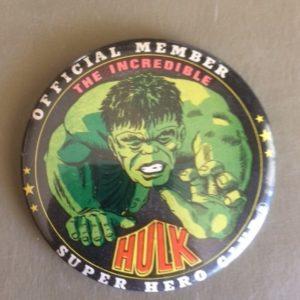 3.5 inch The Incredible Hulk Comic Pinback