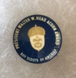 Boy Scout Acorn Award Pinback old