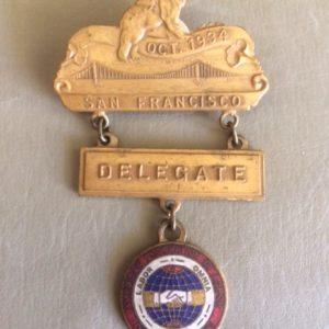 California Labor badge 1934
