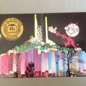 Reddy Kilowatt 1964 NYWF Postcard front