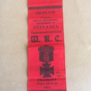 1903 Ribbon Womens Relief Corp Fremont Nebraska