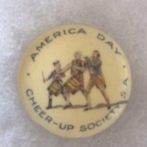 Australia America Day WWI pinback