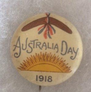 Australia Day 1918 sun and bommerang