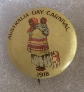 Australia Day Carnival 1918 Pinback