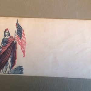 Civil War Cover - Lady Liberty with US Flag