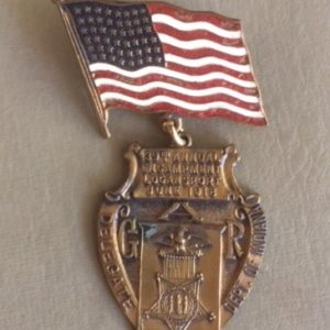 GAR 1918 Dept of Indiana 39th Annual Encampment Badge