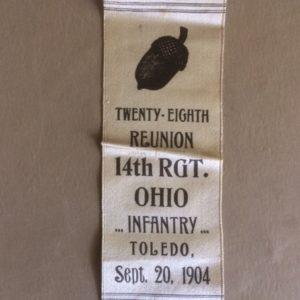 GAR 28th Reunion Ohio Infantry 14th Regt 1904 Ribbon