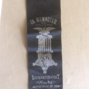 GAR Stone River Indiana Memorial Ribbon