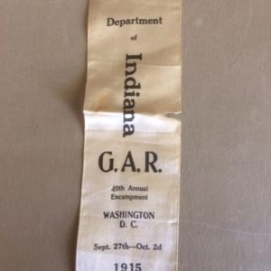 Indiana GAR 49th Encampment Washington DC 1915 Ribbon