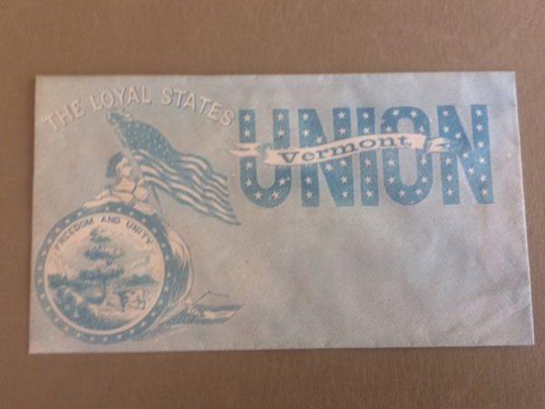 Loyal States Union Vermont Civil War Cover