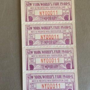 NY Worlds Fair Tickets small