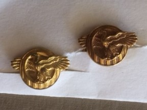 WWII Ruptured Duck Studs