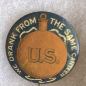 CW related pinback - canteen