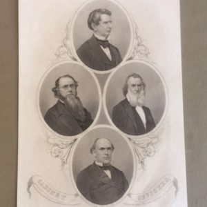 Abe Lincoln Cabinet Officers 1865 Engraving