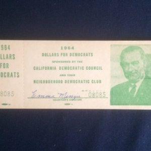 LBJ 1964 Dollars for Democrats Booklet