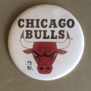 Large Chicago Bulls Basketball Pinback