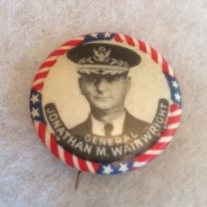 General Wainwright pinback