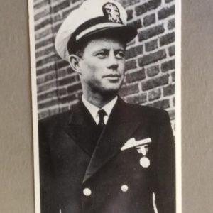 John F Kennedy Large Card - in Navy Marine Uniform WWII