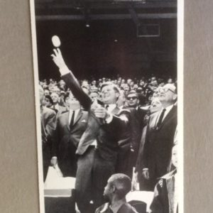 John F Kennedy Large Card - throwing out first ball 1963 MLB opener
