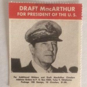 Draft MacArthur for President stamp