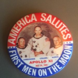 First Men on the Moon Large Pinback