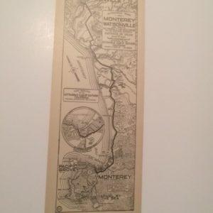 1920s California AAA Map Monterey to Watsonville