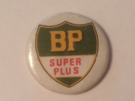 BP Super Plus Gasoline Pinback