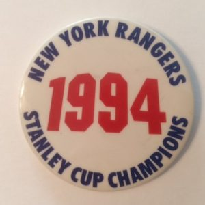 1994 NY Rangers Stanley Cup Champions Pinback