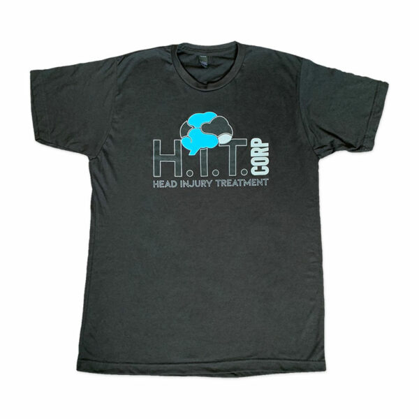 Mens Black T-Shirt with H.i.T. Corp logo on front