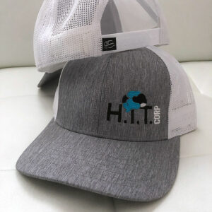 White and Grey Trucker Hat