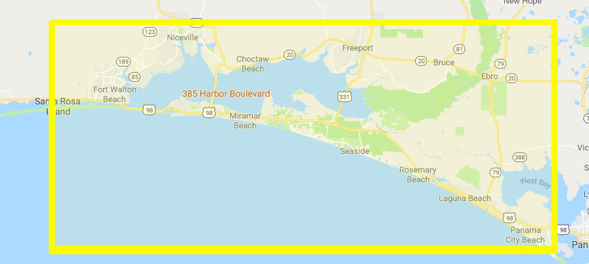 Destin Towing Service and Company Google Map