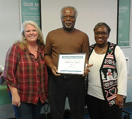Congratulations to Wilbert Shaw for 30 years of service at Cablecraft