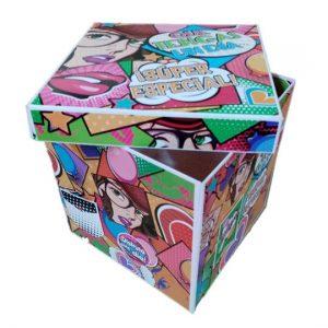 Caja Cubo Mediana Fiesta