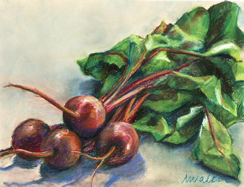 Beets - Pastel Painting
