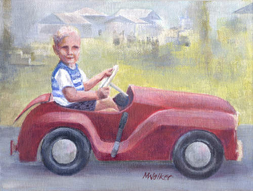 Red Convertible - Acrylic