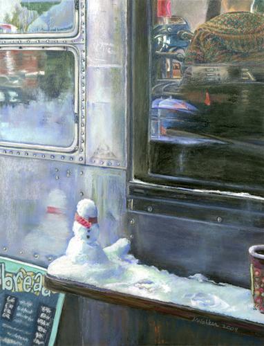 Roadhouse Snowman - Pastel