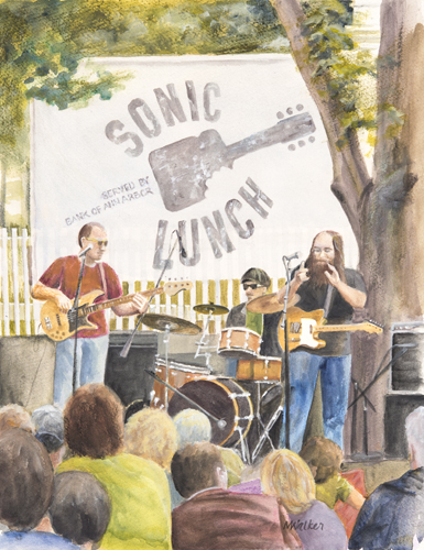 Sonic Lunch - Acrylic Painting