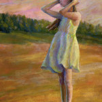 Sunset Girl - Pastel