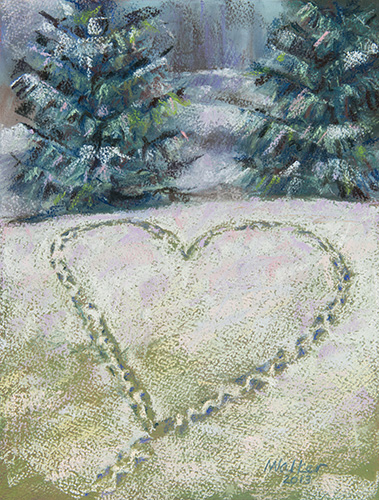 Wintry Heart - Pastel