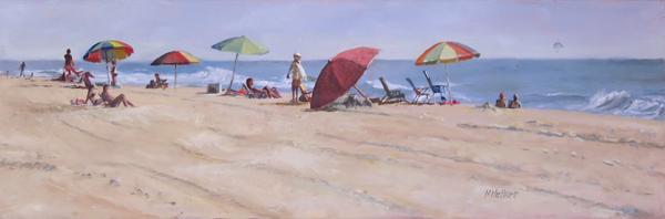 Five Umbrellas - Oil Painting