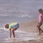 Girls in the Surf - Oil Painting
