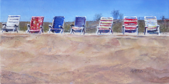 Reserved Seating - Oil Painting